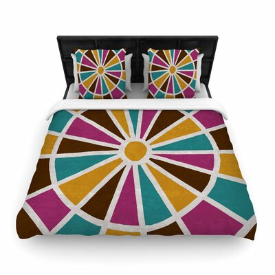 Nacho Filella Eyes Digital Woven Duvet Cover Size: Twin