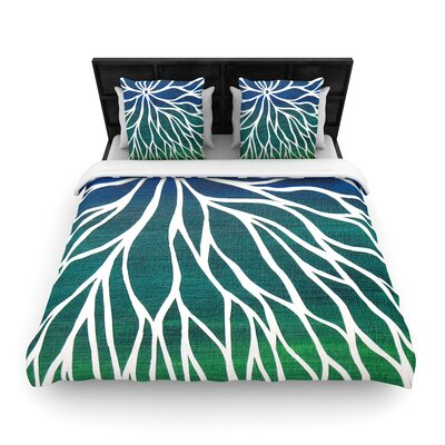 NL Designs Ocean Flower Woven Duvet Cover Size: Full/Queen