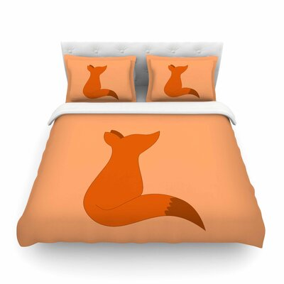 NL Designs Fox Digital Featherweight Duvet Cover Size: Twin