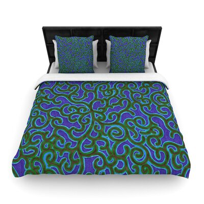 NL Designs Swirling Vines Woven Duvet Cover Size: King