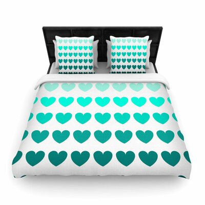 NL Designs Hearts love Woven Duvet Cover Size: Twin