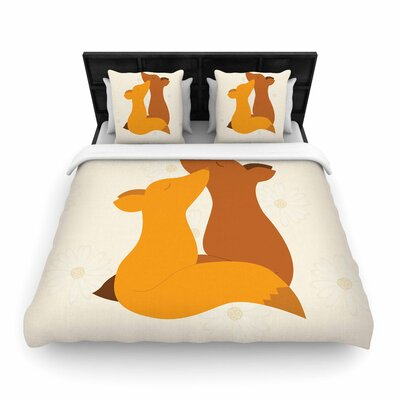 NL Designs Foxy Love Woven Duvet Cover Size: Twin