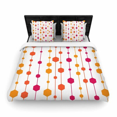 NL Designs Warm Dots Pattern Woven Duvet Cover Size: King