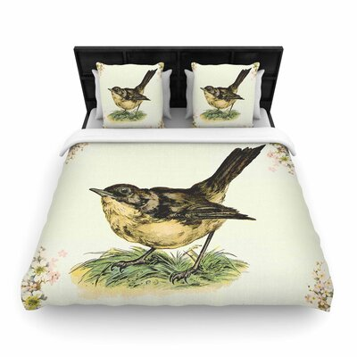 NL Designs Vintage Bird Nature Woven Duvet Cover Size: King