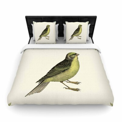 NL Designs Vintage Bird 2 Animals Woven Duvet Cover Size: King