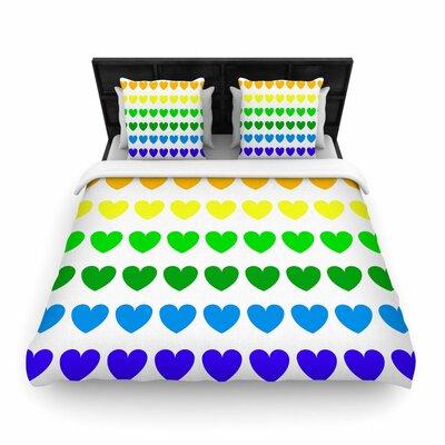 NL Designs Rainbow Hearts Love Woven Duvet Cover