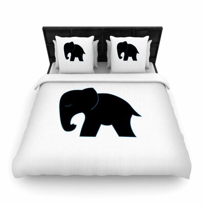 NL Designs Cute Elephant Animals Woven Duvet Cover Size: Full/Queen