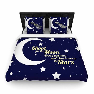 NL Designs Moon and Stars Quote Woven Duvet Cover Size: Twin