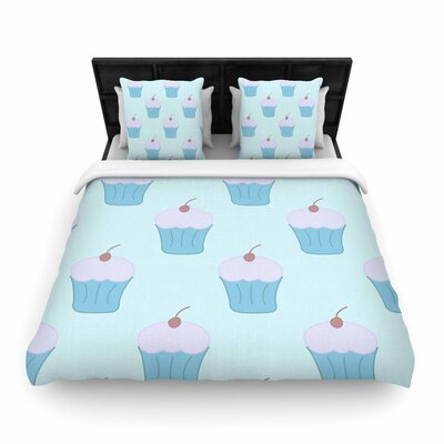 NL Designs Cupcakes Food Woven Duvet Cover Size: King