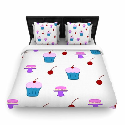 NL Designs Sweet Treats Food Woven Duvet Cover Size: Twin