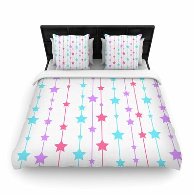 NL Designs Stars Pattern Woven Duvet Cover Size: King