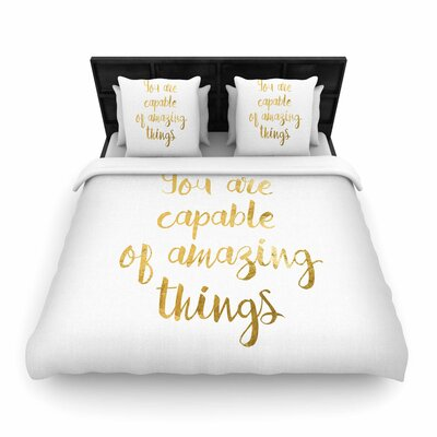 NL Designs Amazing Things Woven Duvet Cover Size: Full/Queen