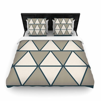 NL designs Sandstone Triangles Geometric Woven Duvet Cover Size: Full/Queen
