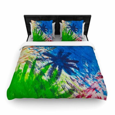 NL Designs Splatter Stars Abstract Painting Woven Duvet Cover Size: Twin