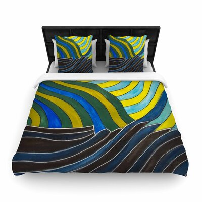 NL Designs Desert Waves Woven Duvet Cover Size: Twin