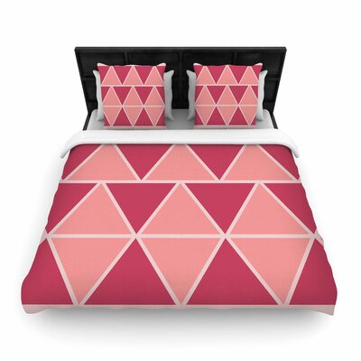 NL designs Triangles Patterns Woven Duvet Cover Size: Twin