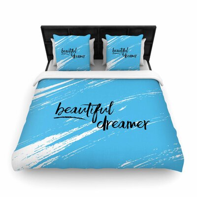 NL designs Beautiful Dreamer Typography Woven Duvet Cover Size: Twin