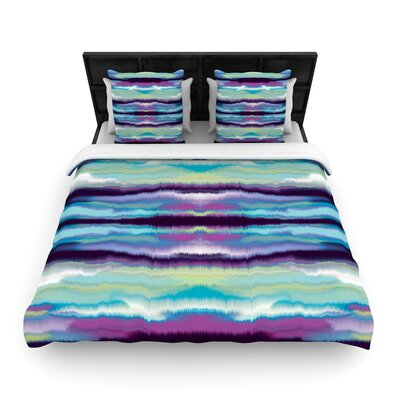 Nina May Artik Stripe Woven Duvet Cover Size: Twin