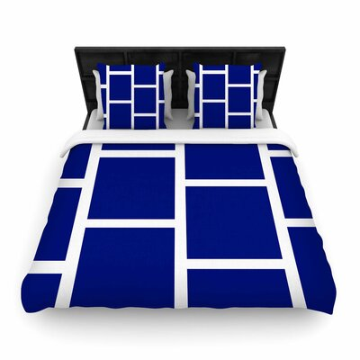 NL designs Square Blocks Pattern Woven Duvet Cover Size: King