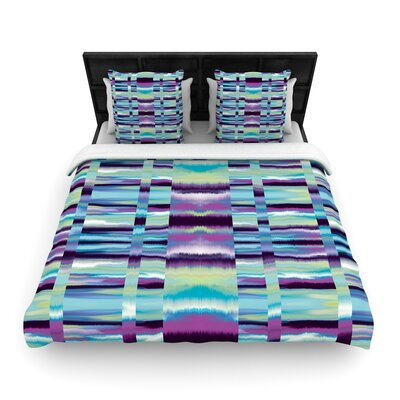 Nina May Samanna Tribal Woven Duvet Cover Size: Full/Queen, Color: Blue