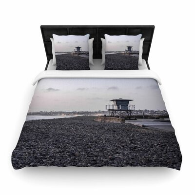 Nick Nareshni Lifeguard on the Rocks Woven Duvet Cover Size: Twin