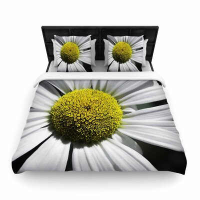 Nick Nareshni Open Daisy Woven Duvet Cover Size: Full/Queen