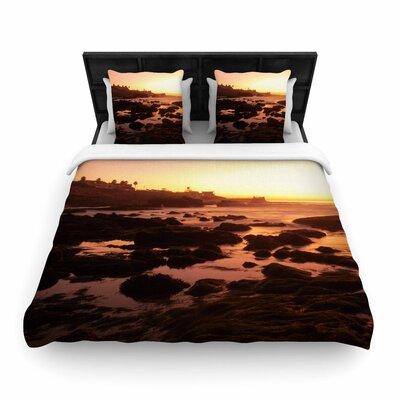 Nick Nareshni Rocks of La Jolla Sunset Woven Duvet Cover