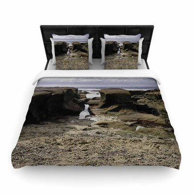Nick Nareshni Stones Leading to Ocean Woven Duvet Cover Size: King