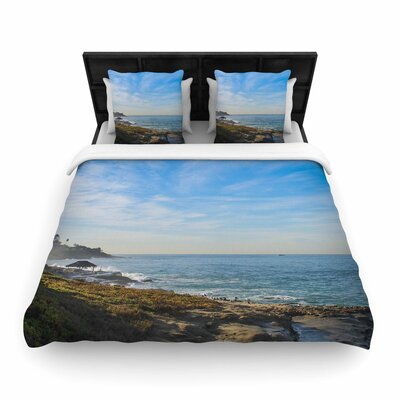 Nick Nareshni Sky over the Ocean Coastal Woven Duvet Cover Size: Twin