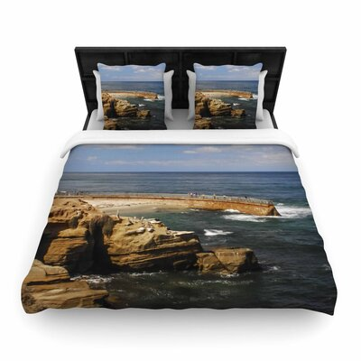 Nick Nareshni Ocean Jetty Woven Duvet Cover Size: King