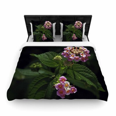 Nick Nareshni the Lantana Flower Woven Duvet Cover Size: Twin