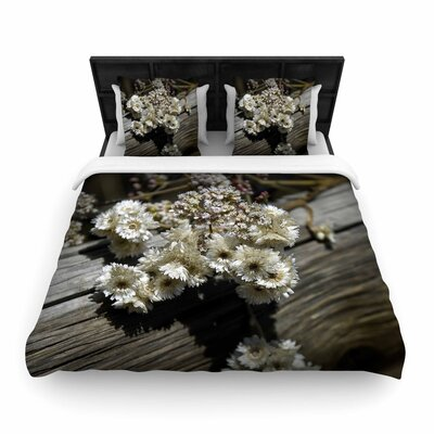 Nick Nareshni Rustic Flowers Woven Duvet Cover Size: King