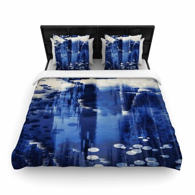 Nina May Extract Digital Woven Duvet Cover Size: Full/Queen