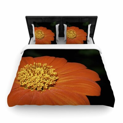 Nick Nareshni Open Wide Flower Woven Duvet Cover Size: King