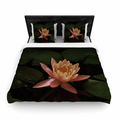 Nick Nareshni Lily Pad Flower Woven Duvet Cover Size: Twin