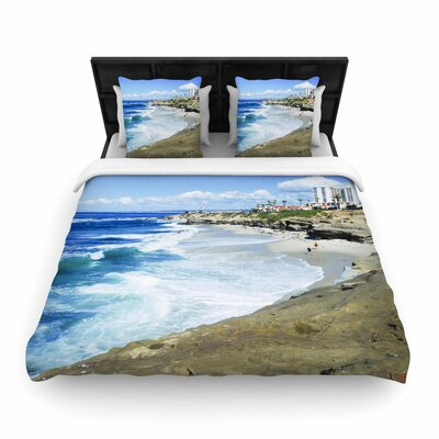 Nick Nareshni Beach Playground Woven Duvet Cover Size: King