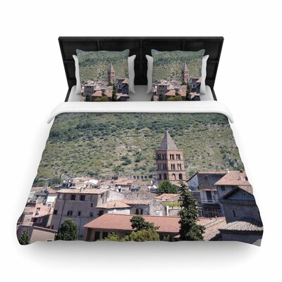 Nick Nareshni Florence Architecture Travel Photography Woven Duvet Cover