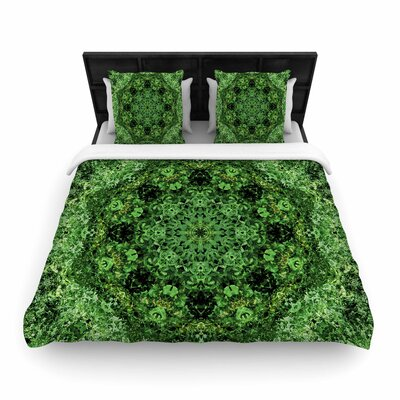 Nick Nareshni Forest Mandala Geometric Woven Duvet Cover Size: Full/Queen