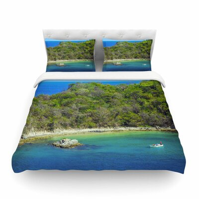 Nick Nareshni the Lonely Fisherman Photography Featherweight Duvet Cover Size: Twin