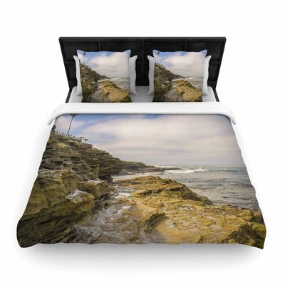 Nick Nareshni Rocks over the Water Woven Duvet Cover Size: King