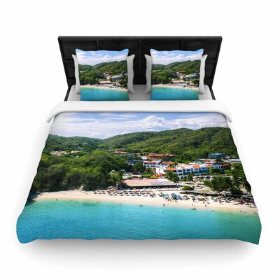 Nick Nareshni Forest on the Beach Photography Woven Duvet Cover Size: King