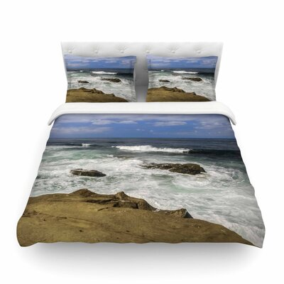 Nick Nareshni Exposed Above Water Sandstone Photography Featherweight Duvet Cover Size: King