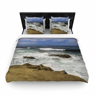 Nick Nareshni Exposed Above Water Sandstone Photography Woven Duvet Cover Size: Full/Queen