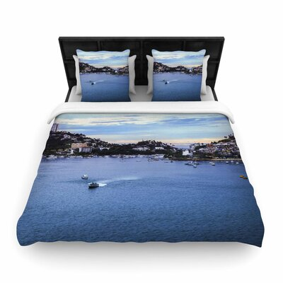Nick Nareshni Puerto Rico Coastline Photography Woven Duvet Cover Size: Twin