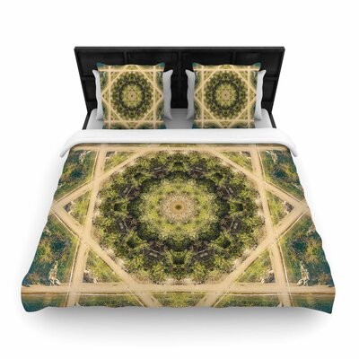 Nick Nareshni Forest Mandala Geometric Woven Duvet Cover Size: Twin