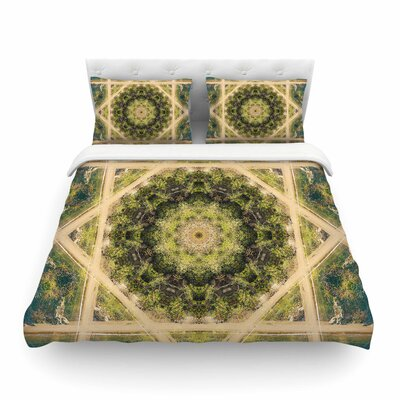 Nick Nareshni Forest Mandala Geometric Featherweight Duvet Cover Size: King
