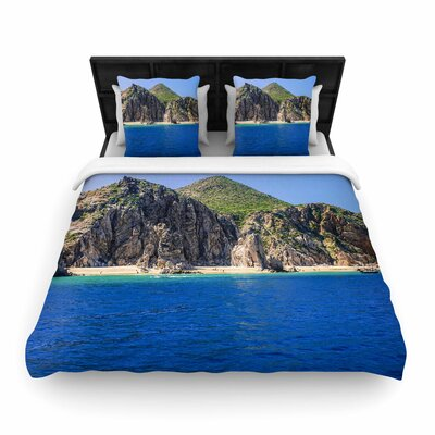 Nick Nareshni Stone Hills Coastline Photography Woven Duvet Cover Size: Twin