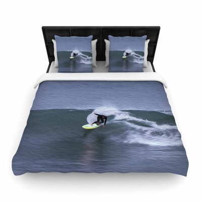 Nick Nareshni Surfers Ride Woven Duvet Cover