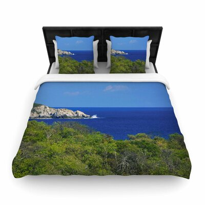 Nick Nareshni Forest to the Ocean Photography Woven Duvet Cover Size: Twin