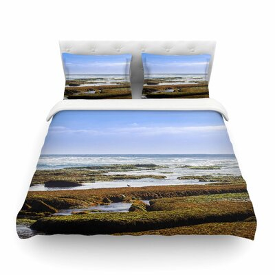 Nick Nareshni Low Tide Reef Photography Featherweight Duvet Cover Size: King
